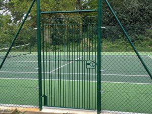 tennis court entrance