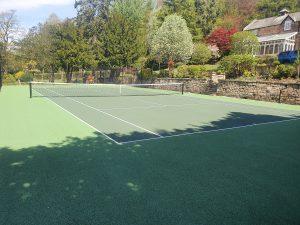 Donald Ward, Duffield - tennis court installation